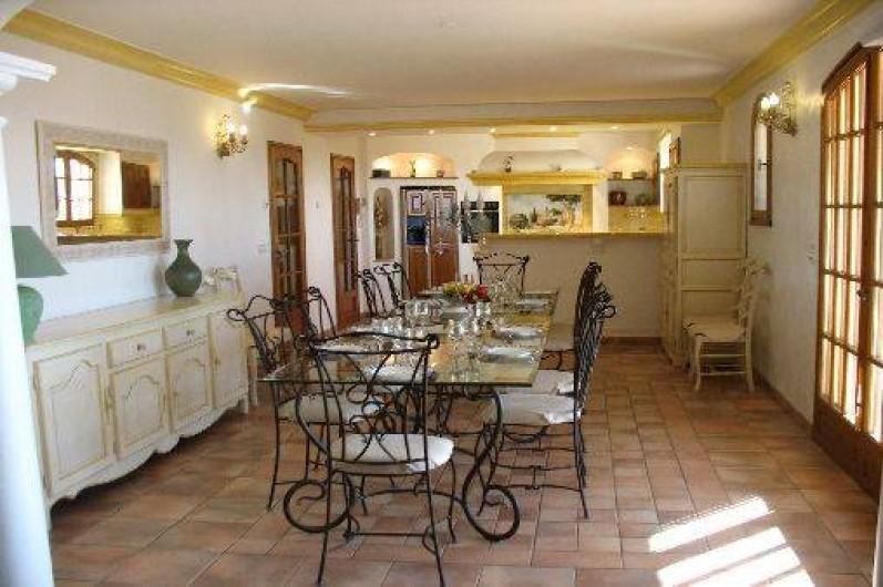 Location de vacances - Villa à Cannes - salle à manger villa des oliviers