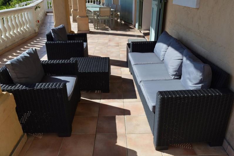 Location de vacances - Villa à Cannes - Terrasse sud villa des oliviers