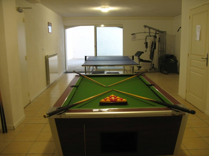 Location de vacances - Villa à Cannes - Salle de jeux sport villa des oliviers