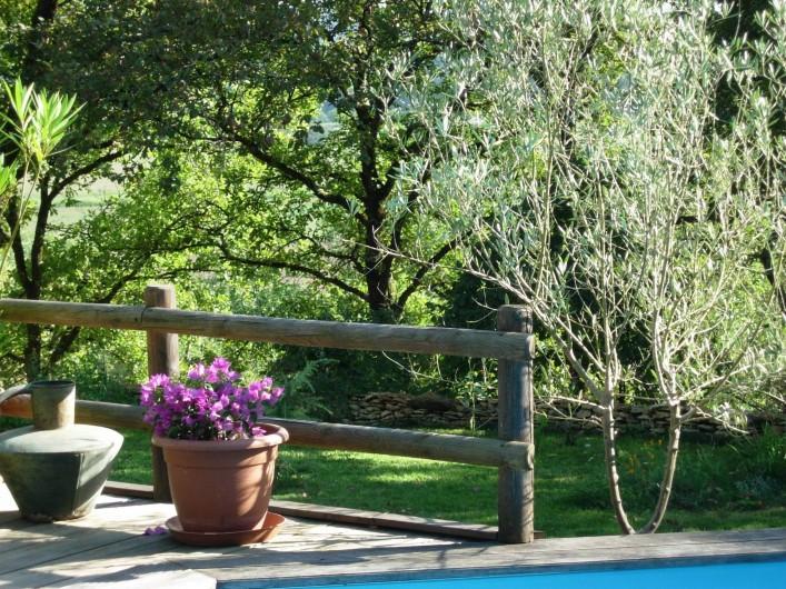Location de vacances - Gîte à Aubas - Sur la terrasse au dessus de la piscine