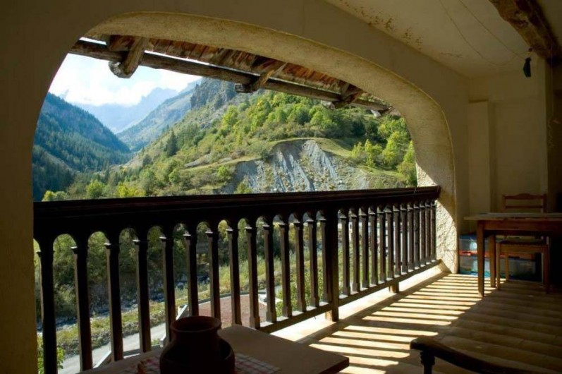 Location de vacances - Maison - Villa à Saint-Dalmas-le-Selvage - Terrasse niveau 1