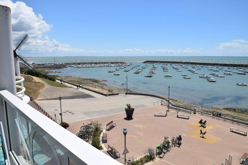 Location de vacances - Studio à Jard-sur-Mer - Vue panoramique Sud-Est du balcon ( à gauche le moulin vendéen Conchette, )