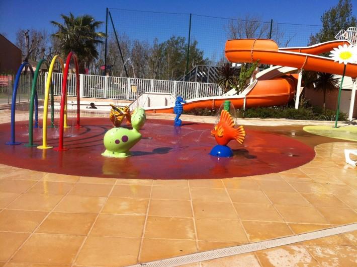 Location de vacances - Bungalow - Mobilhome à Valras-Plage - Aire de jeux d'eau