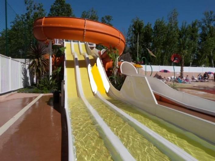 Location de vacances - Bungalow - Mobilhome à Valras-Plage - Toboggan