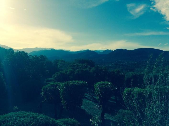 Location de vacances - Villa à Sainte-Lucie de Porto-Vecchio - Vue Jardin Montagne aiguilles de Bavella