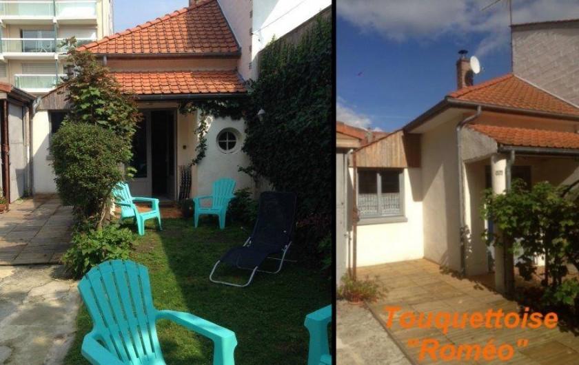 Location de vacances - Maison - Villa à Le Touquet-Paris-Plage - maison ROMEO - 5 couchages , 1 + 1/2 chambre  / Terrasse / Cour partagée