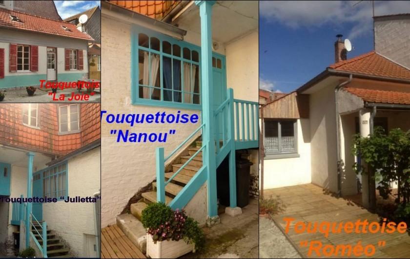Location de vacances - Maison - Villa à Le Touquet-Paris-Plage - Ensemble des 4 maisons avec cour intérieure partagée.