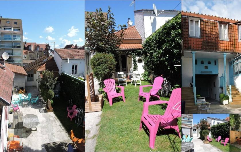 Location de vacances - Maison - Villa à Le Touquet-Paris-Plage - Cour intérieure privée partagée entre les 4 maisons