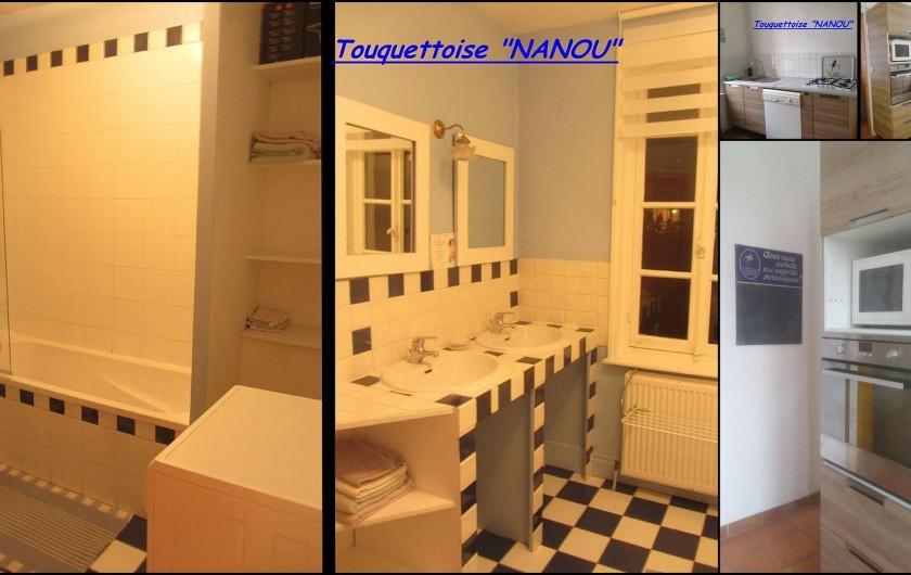 Location de vacances - Maison - Villa à Le Touquet-Paris-Plage - Maison NANOU -,  Baignoire / 2 lavabos / Machine à laver/ Cuisine équipée