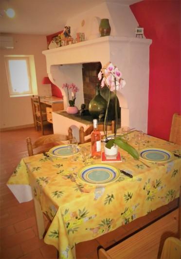 Location de vacances - Maison - Villa à Saint-Rémy-de-Provence - Le coin repas