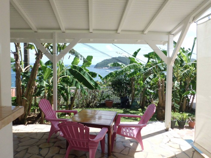 Location de vacances - Studio à Terre-de-Haut - la terrasse