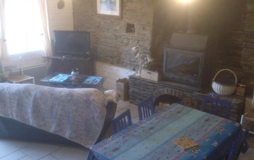 Location de vacances - Maison - Villa à Le Cleu - salon avec canapé convertible