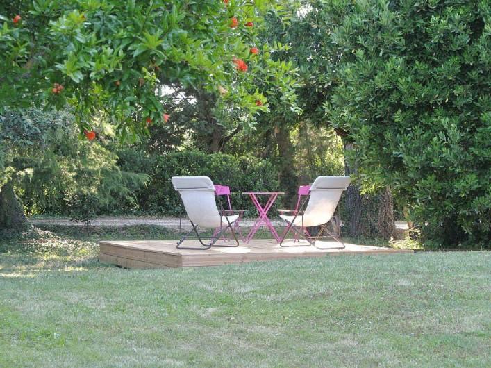Location de vacances - Appartement à Caderousse - La terrasse