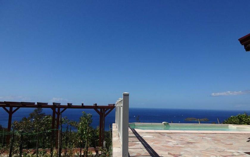 Location de vacances - Villa à Bouillante - Panoramique  sur la mer des Caraïbes