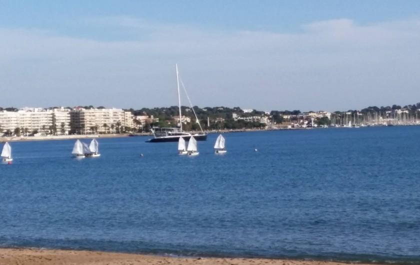 Location de vacances - Appartement à Fréjus Plage - plage coté st raphael