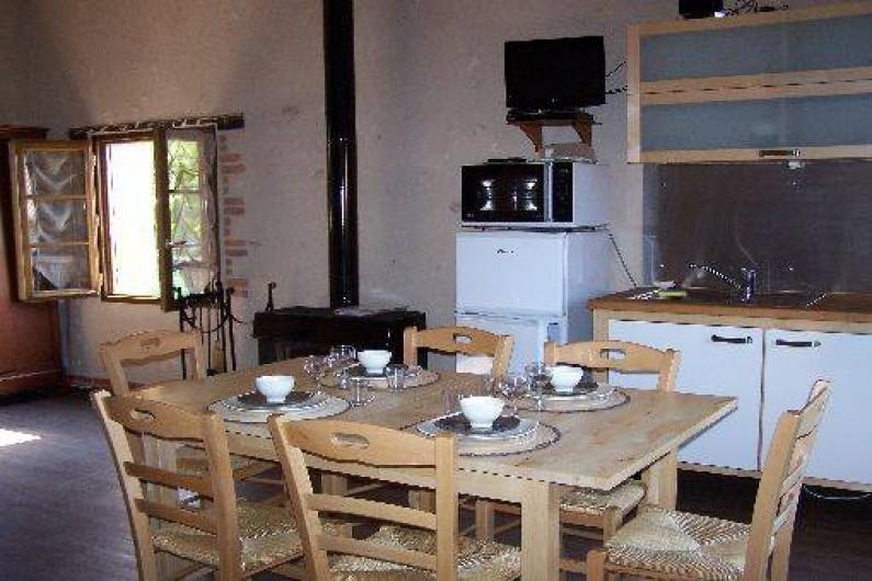 Location de vacances - Gîte à Dierre - Salle à manger : vue vers l'Est