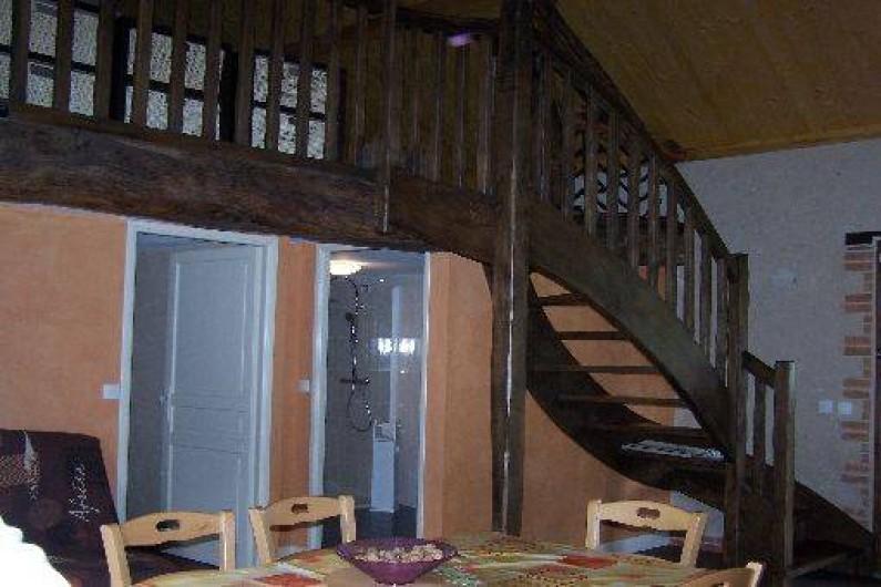 Location de vacances - Gîte à Dierre - Accès Chambre, salle de bains, mezzanine