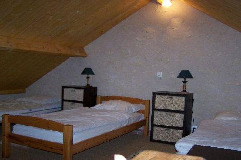 Location de vacances - Gîte à Dierre - mezzanine couchages version 3x1 + Bb