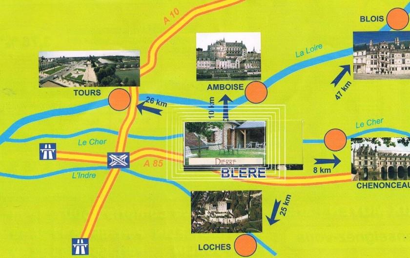 Location de vacances - Gîte à Dierre - Accès rapide et aisé vers les lieux touristiques.