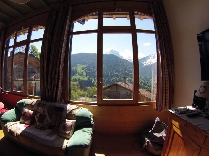 Location de vacances - Appartement à Gryon - Vue en été