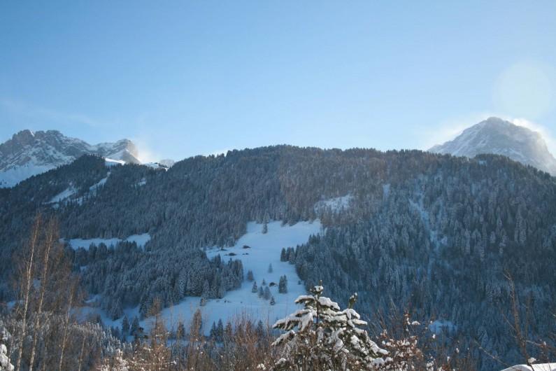 Location de vacances - Appartement à Gryon - Vue en hiver