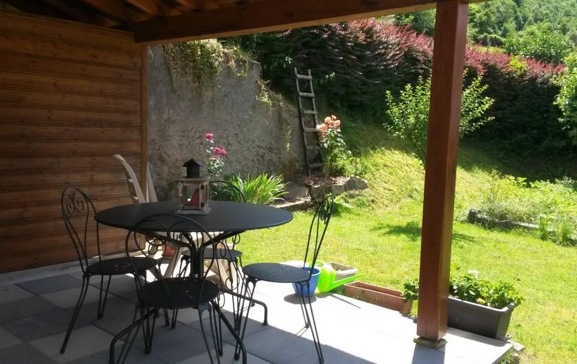 Location de vacances - Gîte à La Bresse - terrasse abritée