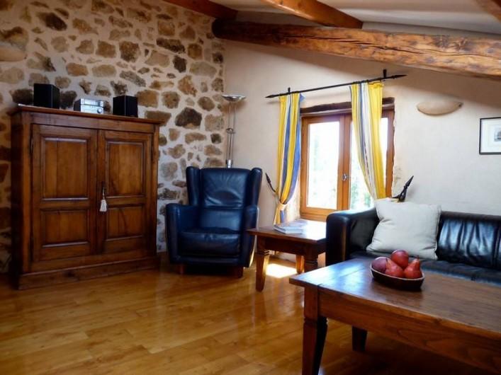Location de vacances - Gîte à Rosières - Mezzanine avec coin TV