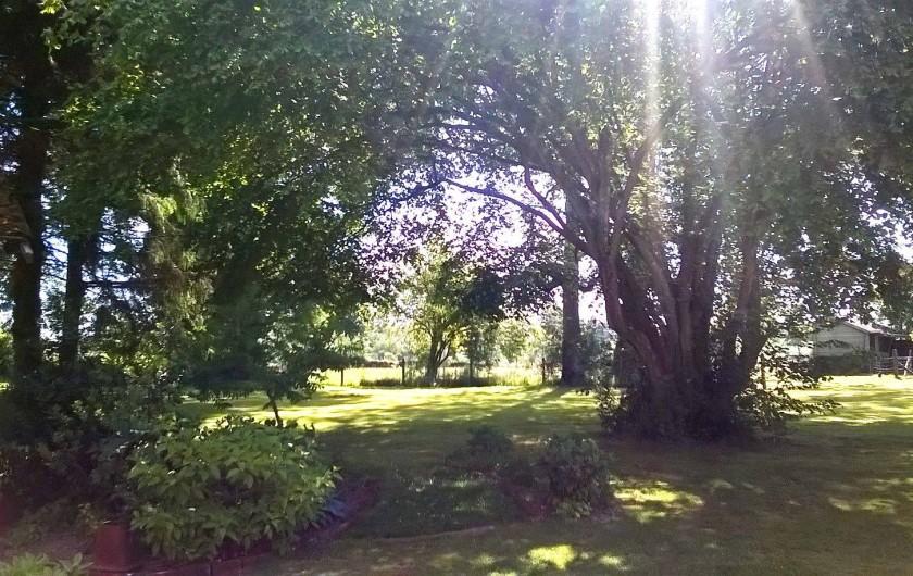 Location de vacances - Chambre d'hôtes à Bois-Guilbert - vue sud est du parc