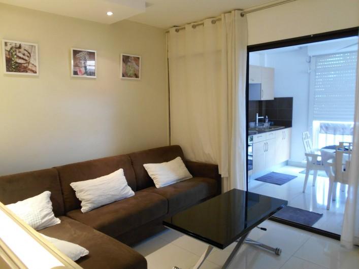 Location de vacances - Appartement à Marigot - Canapé convertible avec couchage SIMMONS 160*200