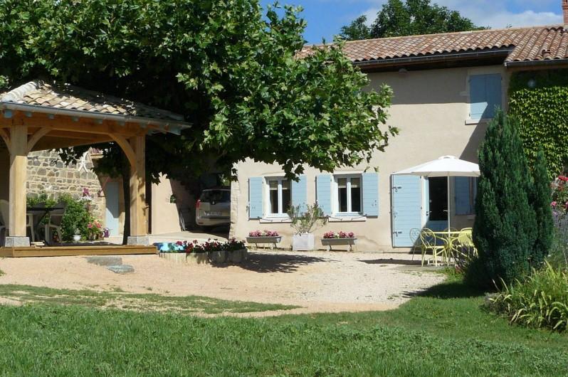 Location de vacances - Gîte à Le Glabat - Cour intérieure Le Gite