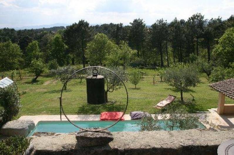 Location de vacances - Chambre d'hôtes à Rosières - Vue de la terrasse