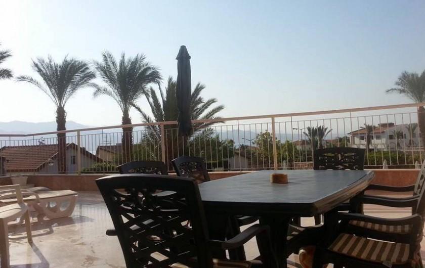 Location de vacances - Appartement à Eilat - terrasse de 60m2