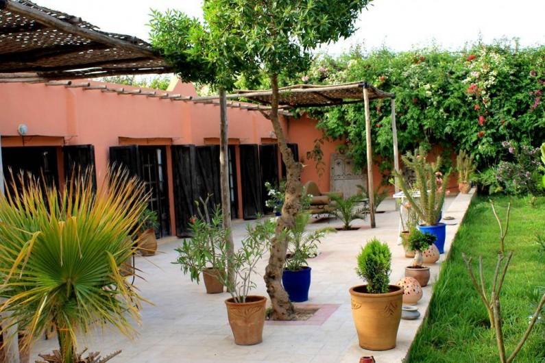 Location de vacances - Chambre d'hôtes à Agadir - terrasse du batiment principal