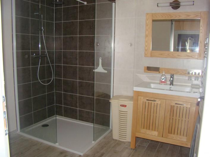 Location de vacances - Gîte à Marchastel - rez-de-chaussée : salle d'eau