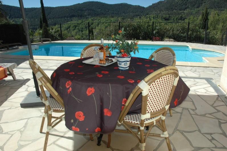 Location de vacances - Villa à Bagnols-en-Forêt - Vue de la piscine