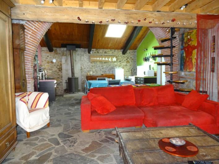 Location de vacances - Appartement à Bompas - le salon depuis l entrée