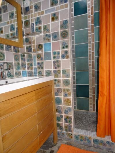 Location de vacances - Appartement à Bompas - salle de douche et lavabo