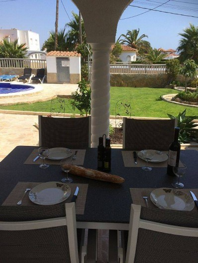 Location de vacances - Villa à Miami Platja - Du patio, la vue