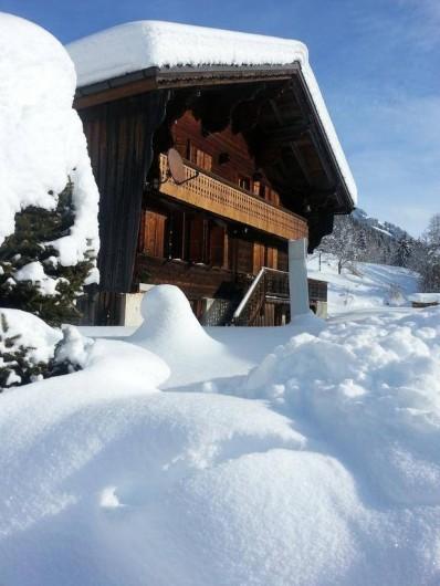 Location de vacances - Chalet à Les Diablerets - Chalet la Croisée en hiver (sud)