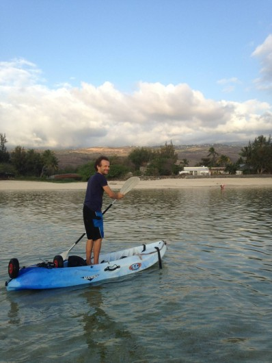 Location de vacances - Villa à Saint-Gilles les Bains - moi qui vous emmènerait sur le lagon en kayak au coucher de soleil;)