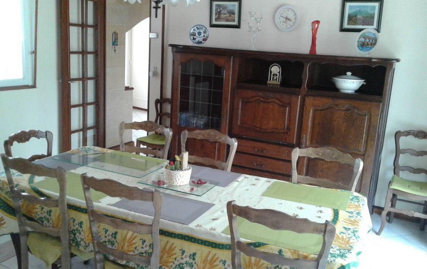 Location de vacances - Gîte à Tours-en-Vimeu - la salle à manger