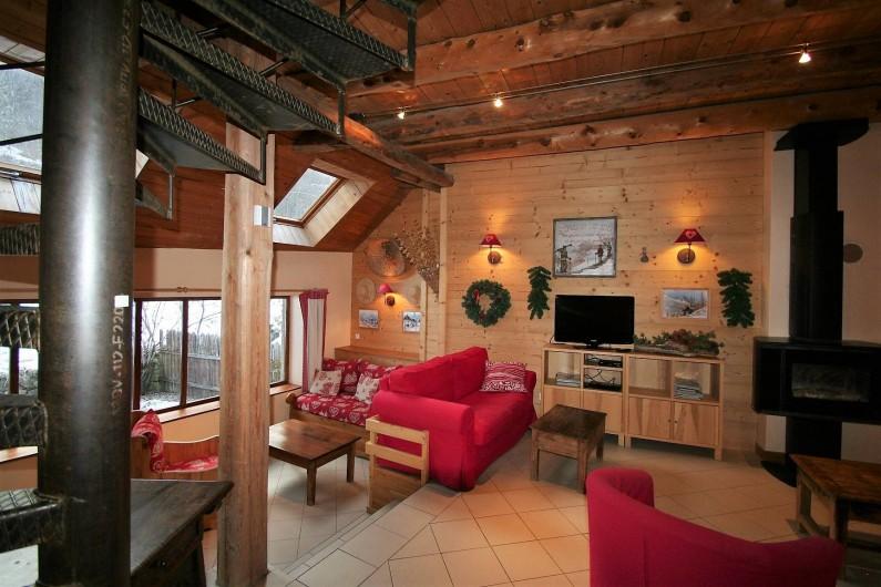 Location de vacances - Chalet à Puy-Saint-Vincent - Salon coin feu