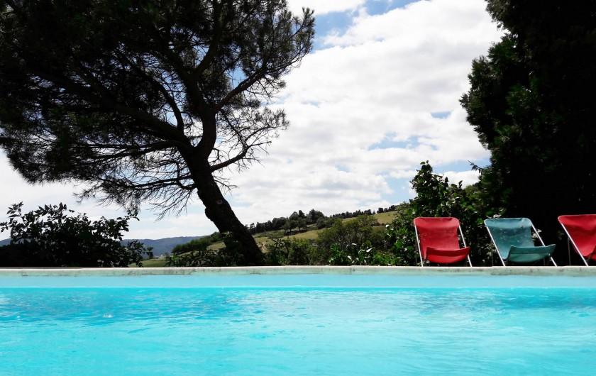 Location de vacances - Gîte à Saint-Alban-d'Ay - Vue piscine