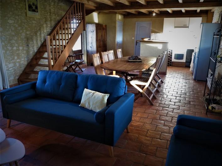 Location de vacances - Gîte à Villeréal - Grande pièce à vivre