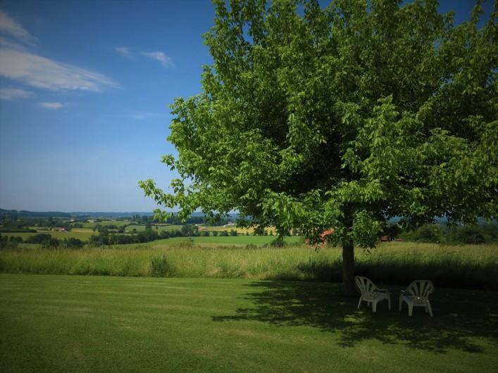 Location de vacances - Gîte à Villeréal - Vue panoramique sur la vallée - Pleine campagne