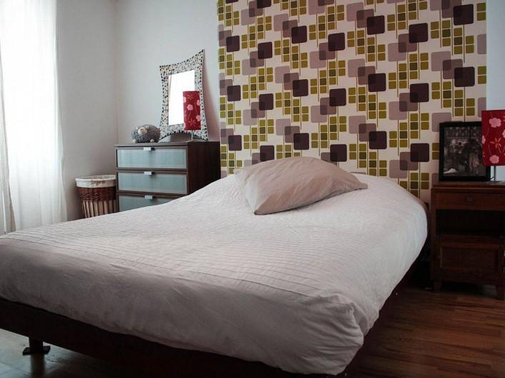 Location de vacances - Appartement à Granville - La chambre avec lit 140 x 190 cm