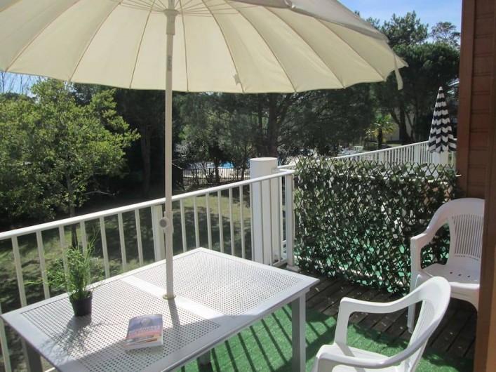 Location de vacances - Appartement à Capbreton - Terrasse de 10 m2 au soleil du matin jusqu'à 16H