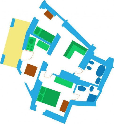 Location de vacances - Appartement à Calice Ligure - plan