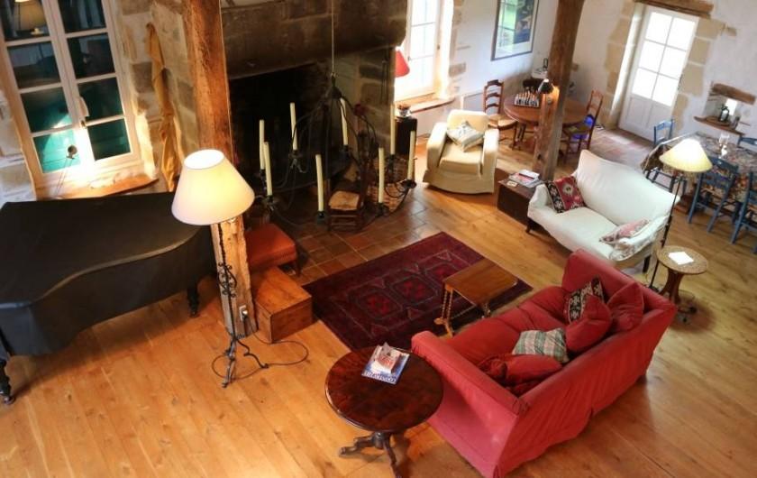 Location de vacances - Maison - Villa à Montagnac-sur-Lède - Salon pris de la mezzanine