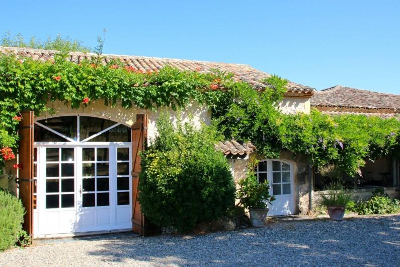 Location de vacances - Maison - Villa à Montagnac-sur-Lède - Entrée du salon